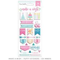 Cocoa Vanilla Make A Wish Puffy Stickers