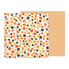 Pebbles Midnight Haunting Halloween 12 x 12 Double Sided Cardstock Whirling Leaves