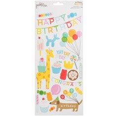 PEBBLES HAPPY HOORAY 6 X 12 CARDSTOCK Stickers 732618