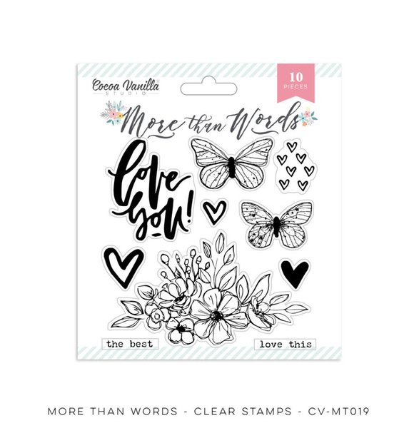 Cocoa Vanilla Studio More Than Words Clear Stamps