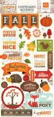 The Story of Fall 6 x 13 Chipboard Stickers