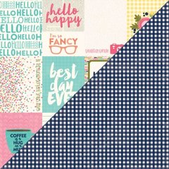 Jillibean Soup Healthy Hello 12 x 12 Double Sided Cardstock Bite Size Bits Journaling Cards
