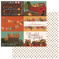 PhotoPlay Autumn Orchard 12 x 12 Cardstock BLESSED