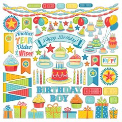 Photoplay Party Boy 12 x 12 Element Sticker Sheet