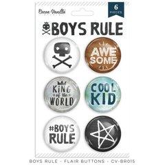 PRE ORDER Cocoa Vanilla Studio Boys Rule Flair Buttons