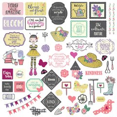 Julie nutting Seeds of Kindness 12 x 12 Element Stickers