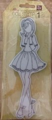 Prima Julie Nutting Mixed Media Doll Stamp 174