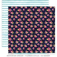Cocoa Vanilla Studio Bohemian Dream FLOWER CHILD 12 x 12 Cardstock