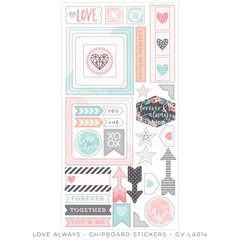 Cocoa Vanilla Love Always Chipboard Accents