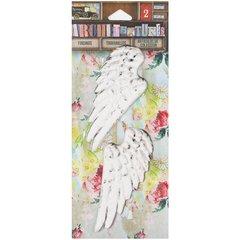 7 Gypsies Architextures Findings Adhesive Embellishments-Angel Wings