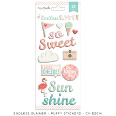 Cocoa Vanilla Endless Summer Puffy Stickers