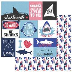 PhotoPlay Shark Attack Jawsome 12 x 12 Cardstock