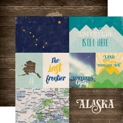 Echo Park Stateside Collection ALASKA 12 x 12 Paper