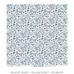 Cocoa Vanilla Studio Wild at Heart Vellum Sheet