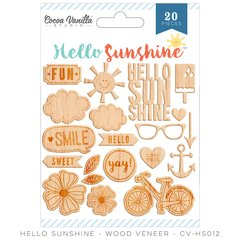 Cocoa Vanilla Hello Sunshine Wood Veneer Shapes