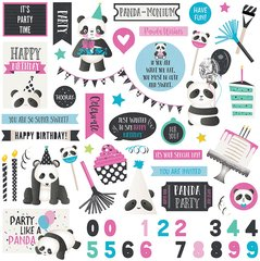 PHOTOPLAY CAKE PANDA PARTY 12 x 12 Element Stickers