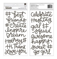 Pebbles Girl Squad Thickers Foam Phrase Stickers