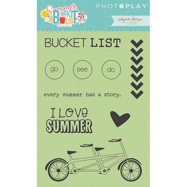 Photo Play Paper - Summer Bucket List Clear Acrylic Stamps - Icons