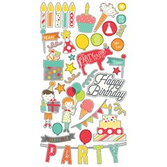 Simple Stories Let's Party 6 x 12 Chipboard Stickers