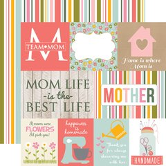 Echo Park Beautiful Mom 12 x 12 Double Sided Cardstock Journaling Cards