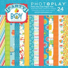 Photoplay Party Boy 6 x 6 Paper Pad