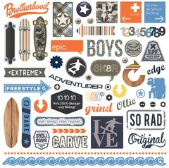 PhotoPlay Freestyle 12 x 12 Element Cardstock Stickers