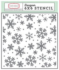 Have a Merry Christmas Snowflakes Stencil Set