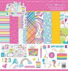 PHOTOPLAY CAKE RAINBOW SPRINKLES 12 X 12 Collection Kit