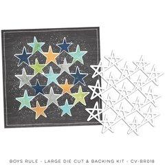 PRE ORDER Cocoa Vanilla Studio Boys Rule Large Die Cut & Backing Kit
