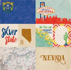 Echo Park Stateside Collection NEVADA 12 x 12 Paper