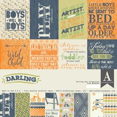 Authentique Darling Boy 12 x 12 Collection Kit
