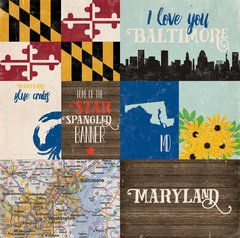 Echo Park Stateside Collection MARYLAND  12 x 12 Paper