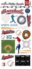 Echo Park  Baseball Collection 6 x 12 Cardstock Sticker Sheet