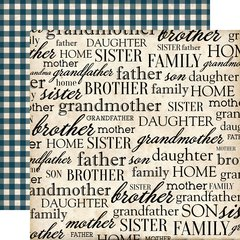 Carta Bella Our Family My Family 12 x 12 Cardstock