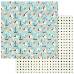Julie Nutting Nautical Bliss 12 x 12 Double Sided Cardstock Boats