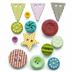 Fancy Pants Everyday Circus Button Mix