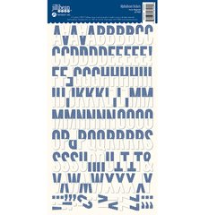 JILLIBEAN SOUP ALPHABEAN STICKERS Navy Diagonal