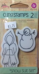 "Prima Julie Nutting Cling Stamps ""Snow Suit Set"""