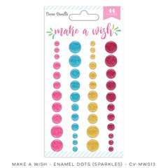 Cocoa Vanilla Make A Wish Enamel Dots - Sparkles