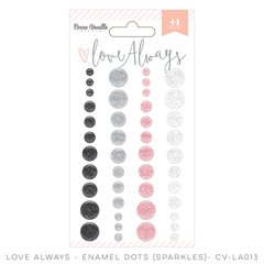 Cocoa Vanilla Love Always Enamel Dots - Sparkles