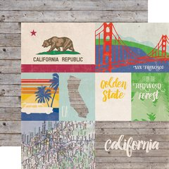 Echo Park Stateside Collection CALIFORNIA 12 x 12 Paper