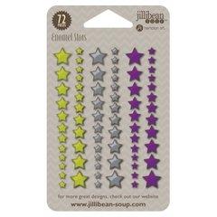 Jillibean Soup Enamel Stars - Green/Gray/Purple