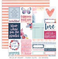 Cocoa Vanilla Studio Wild at Heart 12 x 12 Card Stock Fussy Cuts