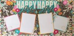 HAPPY HAPPY JOY JOY LAYOUT KIT BY SCRAPBOOKING WITH MRS. C