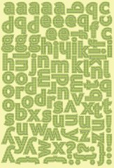 Authentique Charmed 5 x 8 Classic Type Alpha Stickers Green