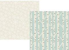 Simple Stories Winter Wonderland 12 x 12 Cardstock Silver White Winter