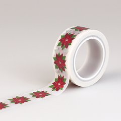 Have a Merry Christmas Poinsettia Washi Decorative Tape