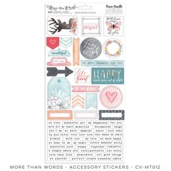 PRE ORDER Cocoa Vanilla Studio More Than Words Accessory Stickers