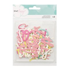 American Crafts Dear Lizzy Happy Place Collection - Die Cut Cardstock Pieces - Phrases