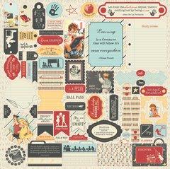 Authentique Studious 12 x 12 Details Sticker Sheet